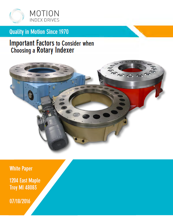Cover - Guide - How to Choose a Rotary Index Table